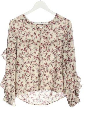 Gina Tricot Long Sleeve Blouse cream-pink allover print elegant
