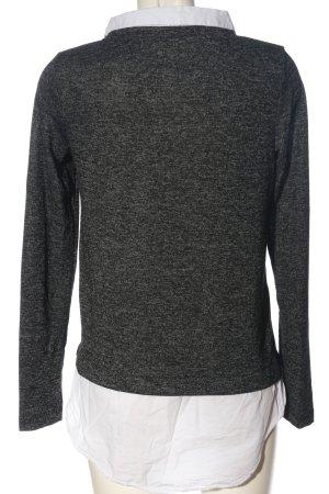 Gina Tricot Blusa de manga larga negro-blanco moteado look casual