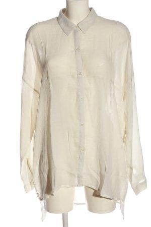 Gina Tricot Chemise à manches longues blanc cassé style décontracté