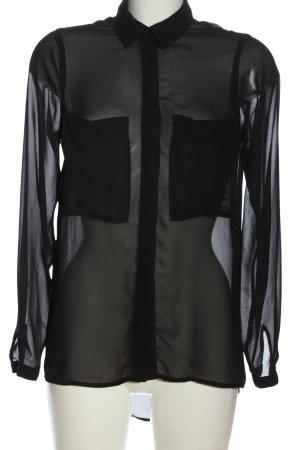 Gina Tricot Chemise à manches longues noir style décontracté