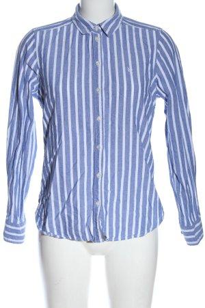 Gina Tricot Chemise à manches longues bleu-blanc motif rayé