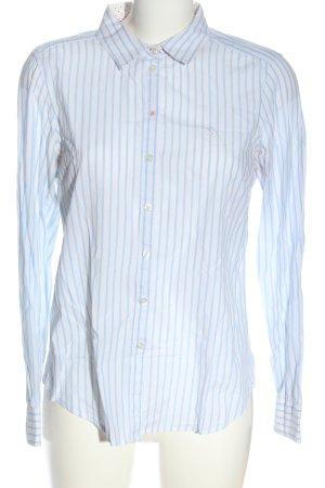 Gina Tricot Langarmhemd blau-weiß Streifenmuster Business-Look
