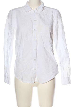 Gina Tricot Camisa de manga larga blanco look casual
