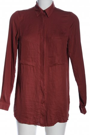 Gina Tricot Langarmhemd rot Business-Look