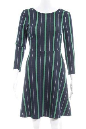 Gina Tricot Langarmkleid dunkelblau-grün Streifenmuster Casual-Look