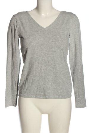 Gina Tricot Koszulka z długim rękawem jasnoszary Melanżowy W stylu casual