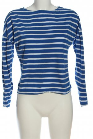 Gina Tricot Koszulka z długim rękawem niebieski-biały Wzór w paski