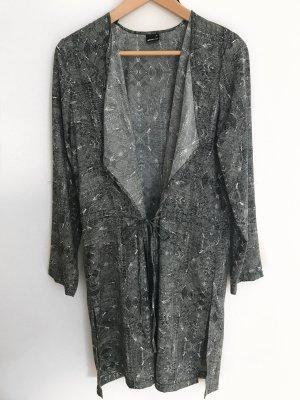 Gina Tricot Mantel in Schwarz/grau/weiß