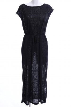 Gina Tricot Maxikleid schwarz abstraktes Muster Casual-Look