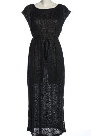 Gina Tricot Sukienka maxi czarny Graficzny wzór W stylu casual