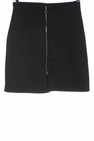 Gina Tricot Minirock schwarz-silberfarben Business-Look