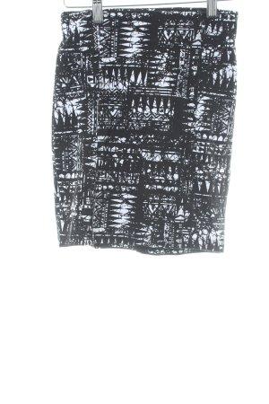 Gina Tricot Minirock schwarz-weiß abstraktes Muster Street-Fashion-Look