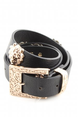 Gina Tricot Studded Belt black-gold-colored extravagant style
