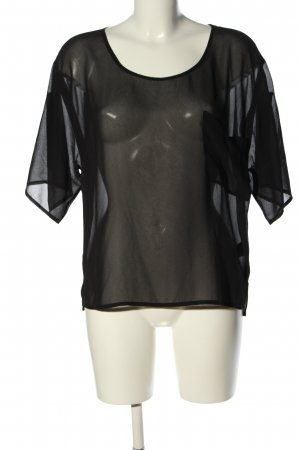 Gina Tricot Oversized Bluse schwarz Party-Look