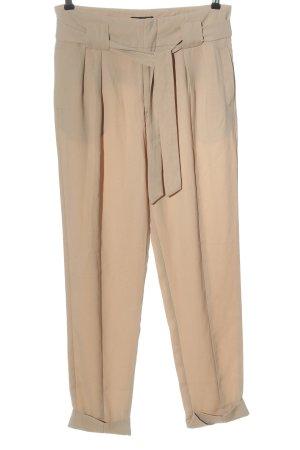 Gina Tricot Spodnie wiązane w talii w kolorze białej wełny W stylu casual