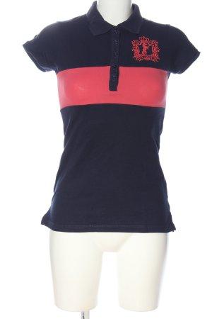Gina Tricot Polo-Shirt blau-pink Casual-Look