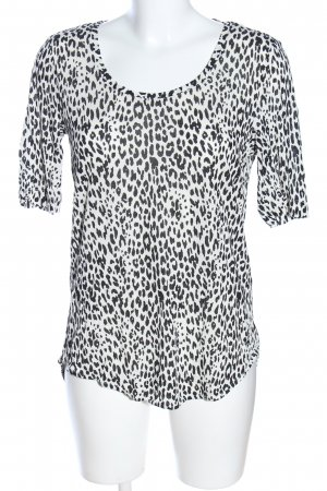 Gina Tricot Print-Shirt weiß-schwarz Animalmuster Casual-Look