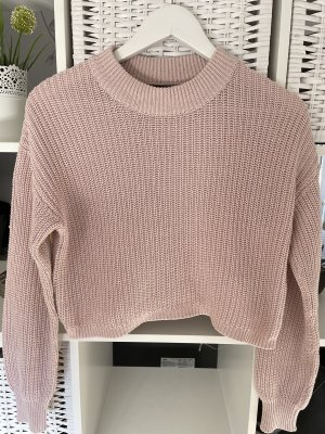 Gina Tricot Pull court vieux rose
