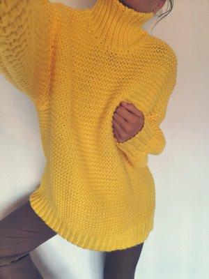 Gina Tricot Gehaakte trui geel