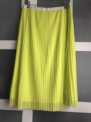 Gina Tricot Rock M gelb grün weiss