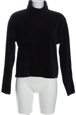 Gina Tricot Jersey de cuello alto negro look casual