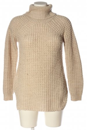 Gina Tricot Rollkragenpullover creme Zopfmuster Casual-Look