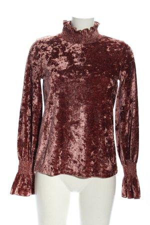 Gina Tricot Rollkragenshirt rot-silberfarben Elegant