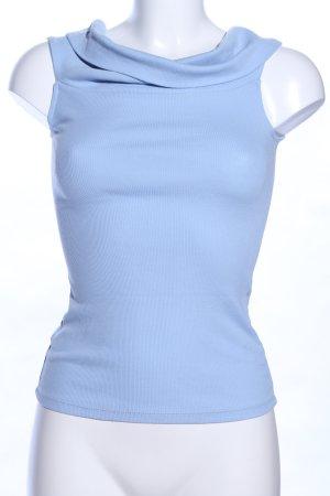 Gina Tricot Top con colletto arrotolato blu stile professionale