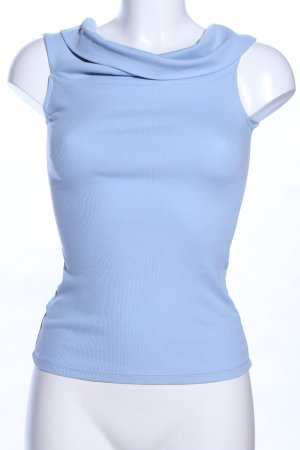 Gina Tricot Top de cuello de cisne azul estilo «business»