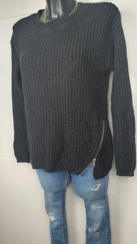 gina tricot Rundausschnitt schwarz Pulli Langarm S 36 Pullover xs Strick