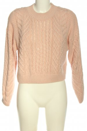 Gina Tricot Jersey de cuello redondo nude punto trenzado look casual