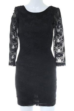 Gina Tricot Schlauchkleid schwarz Blumenmuster Elegant
