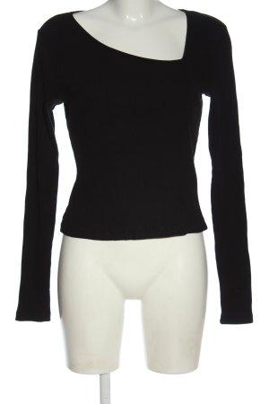 Gina Tricot Koszulka z długim rękawem czarny W stylu casual
