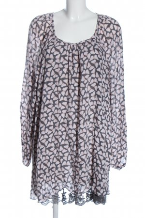 Gina Tricot Slip-over Blouse light grey-pink allover print casual look
