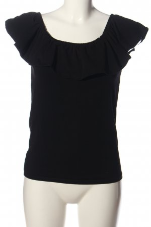 Gina Tricot Schlupf-Bluse schwarz Casual-Look