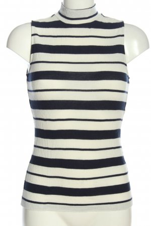 Gina Tricot Schlupf-Bluse schwarz-weiß Streifenmuster Casual-Look
