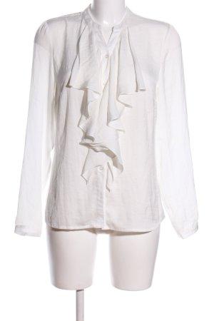 Gina Tricot Bluzka z kokardą biały W stylu biznesowym