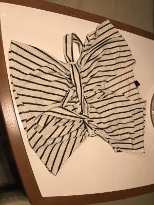 Gina Tricot Kopertowa bluzka kremowy-czarny