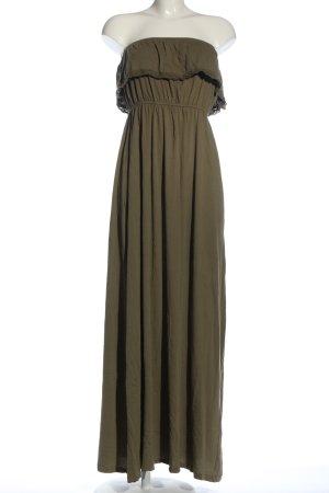 Gina Tricot schulterfreies Kleid khaki Casual-Look