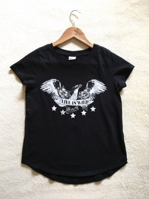 Gina Tricot Shirt schwarz weiß Gr. XS