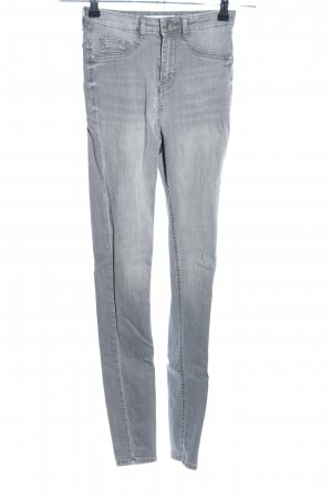 Gina Tricot Skinny Jeans hellgrau Casual-Look