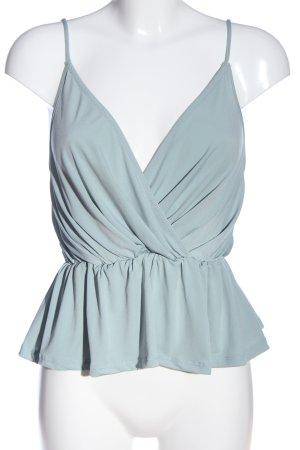 Gina Tricot Haut à fines bretelles bleu style décontracté