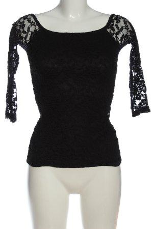 Gina Tricot Koronkowa bluzka czarny W stylu casual