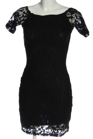 Gina Tricot Koronkowa sukienka czarny Elegancki