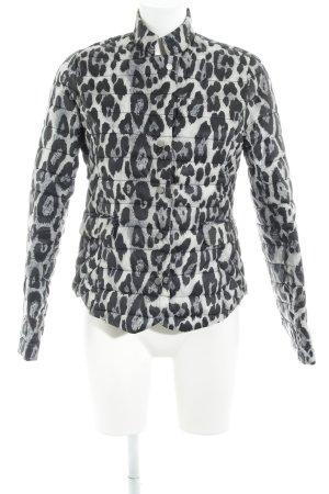 Gina Tricot Steppjacke hellbeige-schwarz Leomuster extravaganter Stil