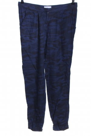 Gina Tricot Stoffhose blau-schwarz Allover-Druck Casual-Look