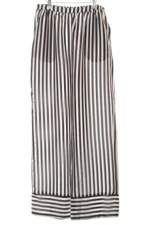 Gina Tricot Stoffhose dunkelgrau-weiß Streifenmuster Casual-Look