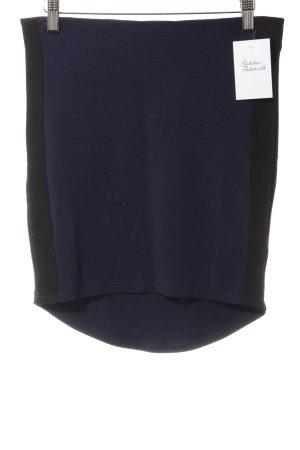 Gina Tricot Stretchrock schwarz-dunkelblau Casual-Look