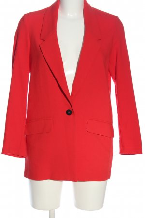 Gina Tricot Strickblazer rot Casual-Look
