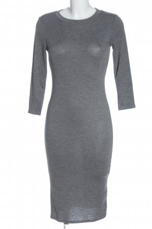 Gina Tricot Vestido tejido gris claro moteado estilo «business»